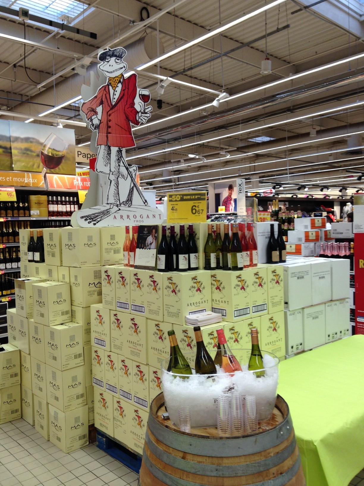Spécial Foire aux Vins de Printemps dans les magasins carrefour autour de Montpellier et Nîmes