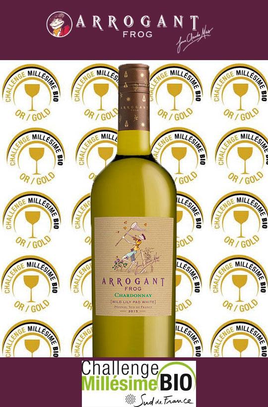 Médaille d'Or concours mondial des vins biologiques Challenge Millésime Bio